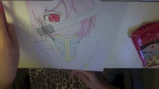 Drawing and colouring my OC Sakura Mikan :3 (hunter x hunter version)