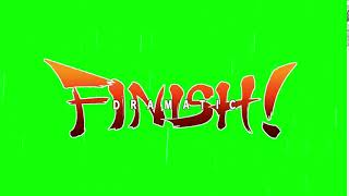 Dragon Ball Fighter Z dramatic finish greenscreen
