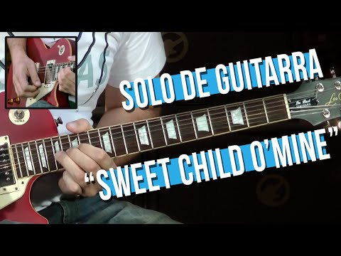 Guns N' Roses - Sweet Child O' Mine - Solo (como tocar - aula de guitarra)