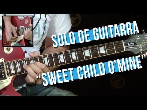 Guns N' Roses - Sweet Child O' Mine - Solo (como tocar - aula de guitarra)