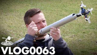 TINY DRONE LAUNCHING CANNON! | VLOG0063