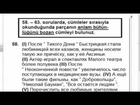 TÜRKÇE ANLATIMLI RUSÇA KPDS DERSLERİ 1