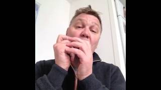 Fast riff no 1 on a C harmonica,  sponsored by Lee Oskar harmonicas
