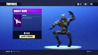 *NEW* FORTNITE EMOTE SQUAT KICK - Fortnite Squat Kick Emote