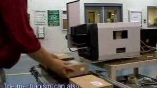 The Avery 64-04 Barcode Printer with a label applicator