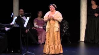 Leila Chalfoun, soprano en Nelly Melba interprète l'air de Tosca de Puccini