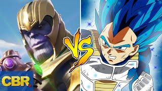 Thanos VS Vegeta Battle