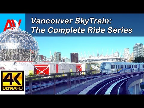 Vancouver SKYTRAIN: EXPO LINE WESTBOUND from Commercial to Waterfront (Day) - The Complete Ride 4K
