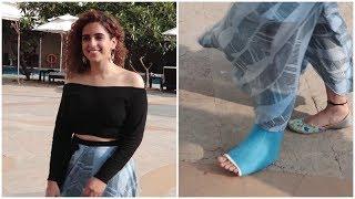 Sanya Malhotra suffers foot injury