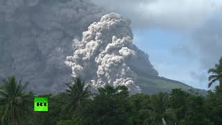 Philippines volcano explodes with ash, hazardous eruption possible (Time lapse video)
