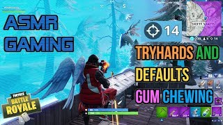 ASMR Gaming | Fortnite Pushing Every Tryhard & Default Gum Chewing 🎮Controller Sounds + Whispering😴💤