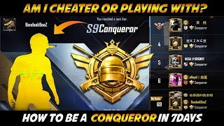 How to Become a Conqueror in 7 Days among Asia's top Hacking Players in PUBG Mobile - BandookBaaz