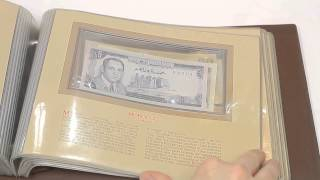 THE MOST TREASURED BANKNOTES OF THE WORLD COLLECTION ALBUM