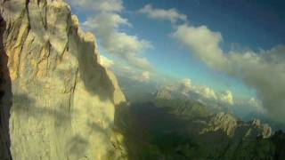 RELAX - Meditation music - Up in the mountain ( HD Helicopter view Dolomites)