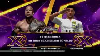 WWE 2K15 - The Rock vs Cristiano Ronaldo (Extreme Rules Match) width=