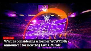 WWE Considering WCW TNA Announcer for 205 Live GM role New WWE stable has a NAME!