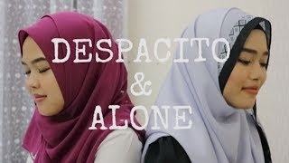 Despacito & Alone - Luis Fonsi, Daddy Yankee ft. Justin Bieber & Alan Walker (Sheryl & Eizaty cover)