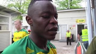 Emile Paul Tendeng lehdistön tentattavana Lahti-voiton jälkeen