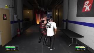 WWE 2K17 Kane '03 VS Shane McMahon In A Backstage Brawl
