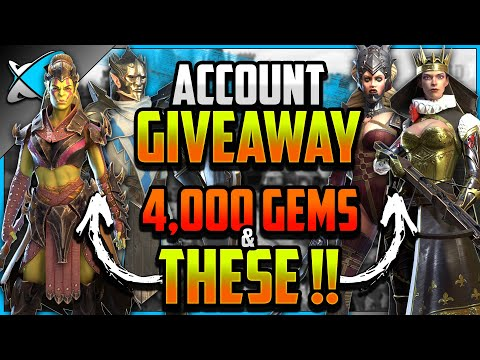 ACCOUNT GIVEAWAY | 4,000 Gems & THESE Champions ++ !! | RAID: Shadow Legends