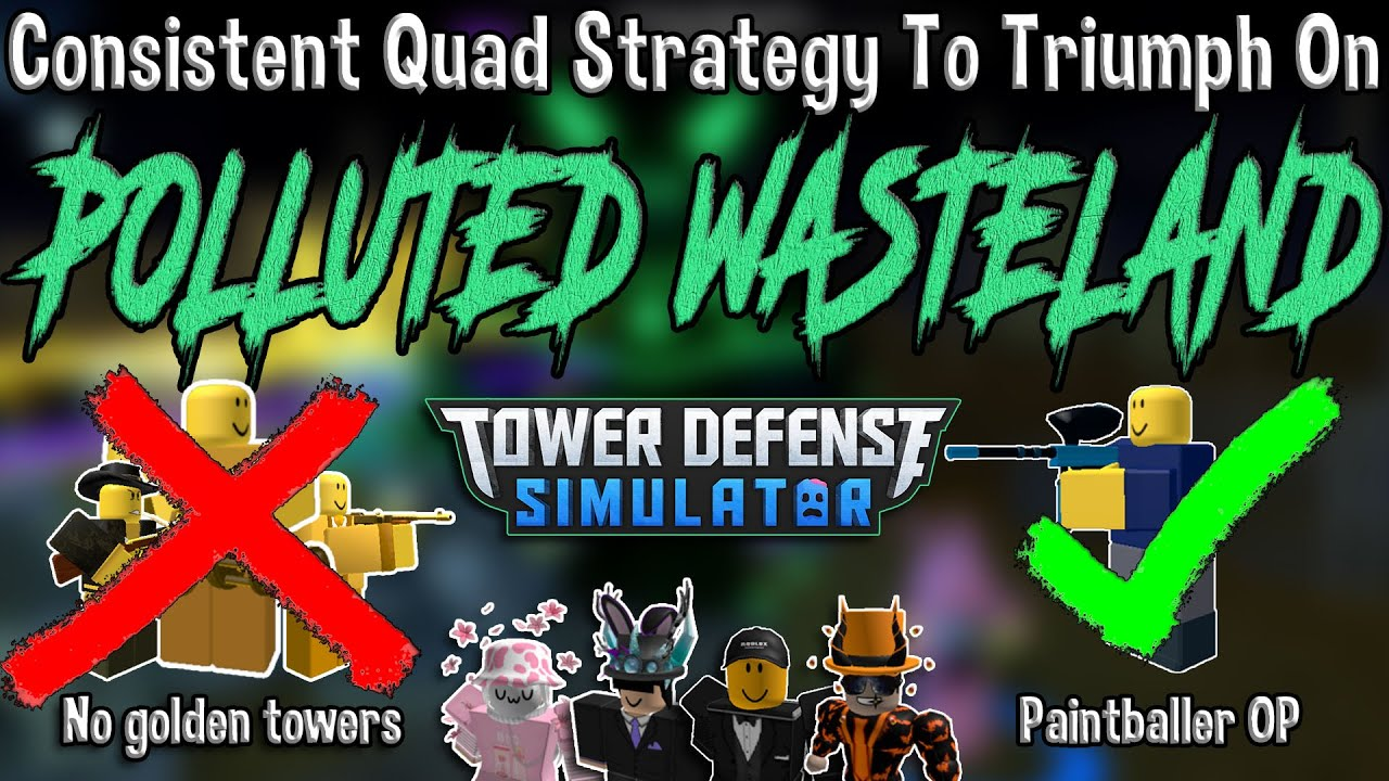 JustHarrison - How to TRIUMPH on POLLUTED WASTELAND!! Tower Defense Simulator - ROBLOX