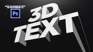 How to Make 3D Text in Photoshop CC! (No Plugins)