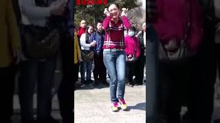 Chinese Old man dancing width=