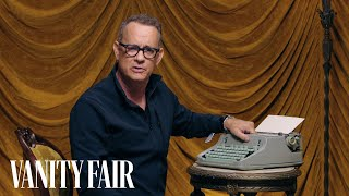 Tom Hanks Changes the Ribbon on a Typewriter | Secret Talent Theatre | Vanity Fair