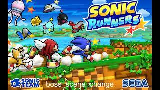 Sonic Runners Music   boss scene change