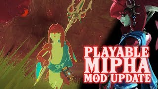 BotW Playable Mipha Mod Update [New Features]