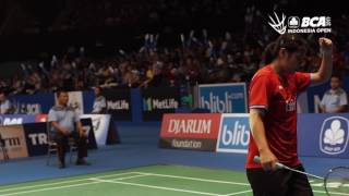 Highlight Day 2 BCA Indonesia Open Superseries Premier 2017