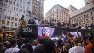 "Joey Bada$$ Premieres ""Devastated"" Video in NYC with #DEVASTATEDBUS"