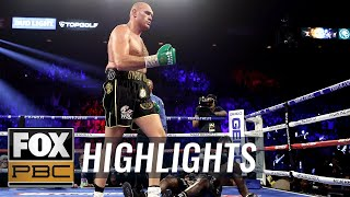 Tyson Fury defeats Deontay Wilder for WBC Heavyweight Championship | HIGHLIGHTS | PBC ON FOX