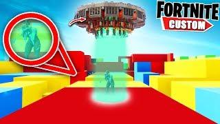 Fortnite EXTREME UFO Escape DEATHRUN.. Can you ESCAPE the UFO?! (Fortnite Creative ModE)