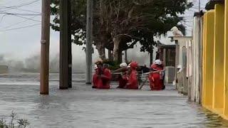 Mer déchaînée à Cuba, inondations à la Havane