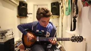 Disturbed - Inside The Fire Guitar Cover by 13 year old Alex Ayres