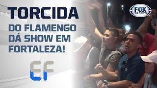 TORCIDA DO FLAMENGO DÁ SHOW EM FORTALEZA; VEJA A FESTA