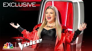 Outtakes: Who Is Kelly Clarkson Talking To? - The Voice 2018 (Digital Exclusive)