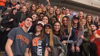 Mini vlog | Syracuse basketball game with my senior class💙🏀🍊