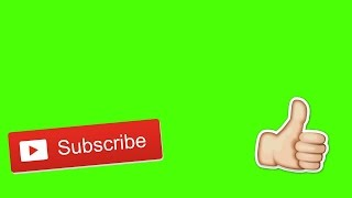 Subscribe And Like Button Animation | Green Screen