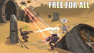 NUEVO modo FREE FOR ALL y robot RAVEN - War Robots 3.8.0 Test Server