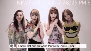 2NE1 - NEW EVOLUTION 1st WORLD TOUR is Coming! (ENG)
