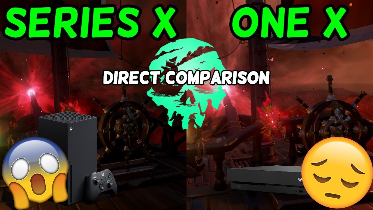 Synicall - Sea of Thieves Series X vs One X (Side By Side Comparison)