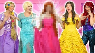 WHO IS THE NEW DISNEY PRINCESS? ARIEL, RAPUNZEL, ELSA, JASMINE AND BELLE FIND OUT!