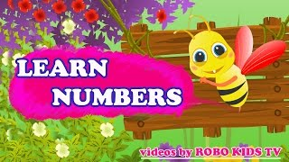 Learning Numbers for Children | Cute Honey Bee Videos for Children | Honey Bee Cartoons for Children