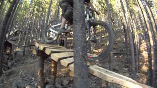 Riding Moose Mountain Bike trails
