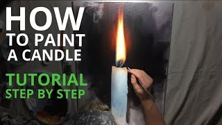 Painting realistic fire in acrylics