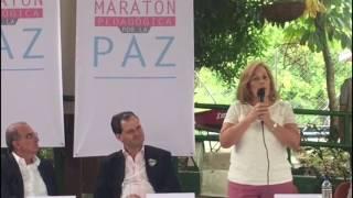 Discurso de Yolanda Pinto en la Maratón de Pedagogía por la Paz.