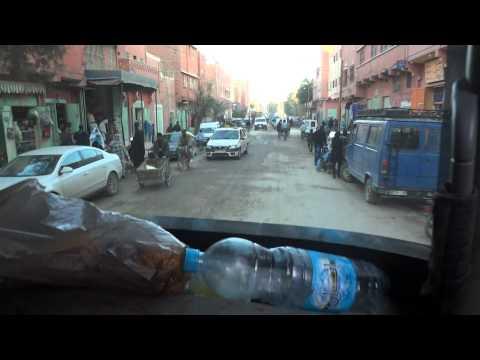 Fruit truck in Sahara Desert in Erfoud city Morocco – part 1