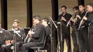 """Orquestra Potiguar de Clarinetes durante a """"Semana da Música 2013"""""""